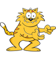 Cartoon Cat Pointing vector image vector image