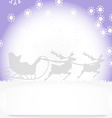 Christmas card with Christmas landscape vector image