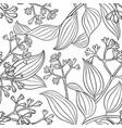 cinnamon seamless pattern vector image vector image