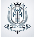 Classy emblem heraldic Coat of Arms vector image vector image