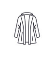 coat line icon concept coat linear vector image