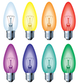 Color light bulb vector image vector image