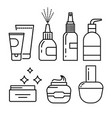 cosmetics containers skincare cream and lotion vector image vector image