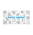 digital content outline horizontal vector image