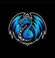 dragon esports logo design dragon mascot gaming vector image