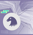 eagle icon on purple abstract modern background vector image