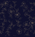 elegant monochrome flowers fabric vector image