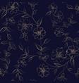 elegant monochrome flowers fabric vector image vector image