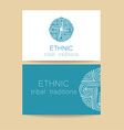 ethnic traditions logo vector image