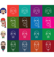 Face icons set vector image