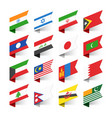 flags world asia set 2 vector image