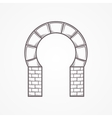 Flat icon for horseshoe arch vector image vector image