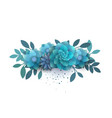 flower composition of paper blue flowers vector image vector image