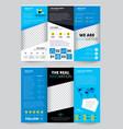 flyer transparent design vector image vector image
