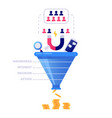 funnel sales concept marketing infographic sale vector image