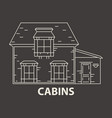 glamping cabin accommodation vector image vector image
