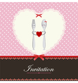 Greeting card or menu design vector image