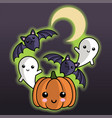 halloween pals party vector image vector image