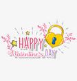 heart padlock to valentine day celebration vector image vector image