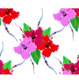 Hibiscus pattern3 vector image vector image
