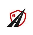 highway emblem logo design vector image