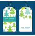 holiday christmas trees vertical stripe vector image vector image