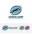 horse jump logo design vector image