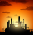 industrial factory Stock vector image vector image