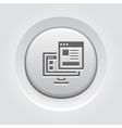 Landing Page Icon Grey Button Design vector image