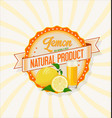 lemon juice retro vintage background vector image vector image