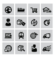 logistic and shipping icon vector image vector image