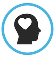 Lover Head Flat Rounded Icon vector image vector image