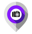 map pin camera symbol gps pointer folded from vector image