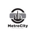 metro city concept logo designs vector image