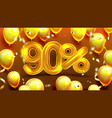ninety percent or 90 benefit offer sale vector image vector image