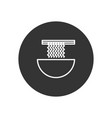noodle icon in modern style for web site and vector image