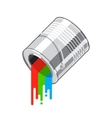 Paint can flow vector image vector image