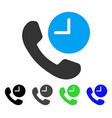 phone time flat icon vector image