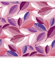 pink geometric colorful fall leaves pattern vector image vector image