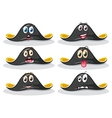 Pirate hats vector image vector image