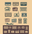 radio receivers vector image vector image