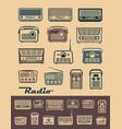 radio receivers vector image