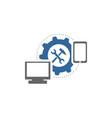 Repair computer and handphone logo vector image