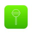 round lollipop icon green vector image vector image