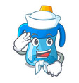 sailor character baby training cup with handles vector image