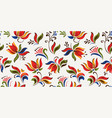 seamless floral pattern with bright colorful vector image