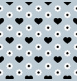 seamless pattern black hearts and white vector image vector image