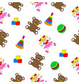 seamless texture consisting of toys vector image