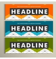 Set banner design in abstract stule vector image