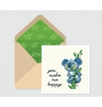 set for design Envelope and card with cute vector image vector image
